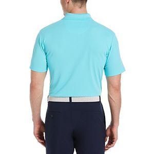 Men's Grand Slam Off Course Regular-Fit Textured Pocket Golf Polo