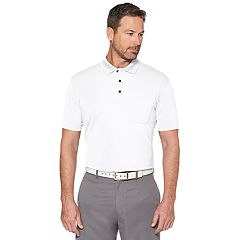 Men's Grand Slam Off Course Regular-Fit Textured Pocket Golf Polo
