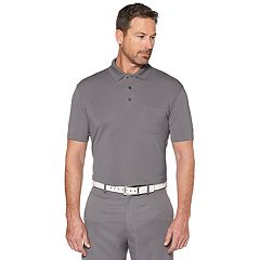 Men's Grand Slam Off Course Regular-Fit Textured Pocketed Golf Polo