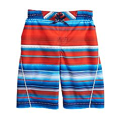 Boys 8-20 ZeroXposur Patriot Striped Swim Trunks