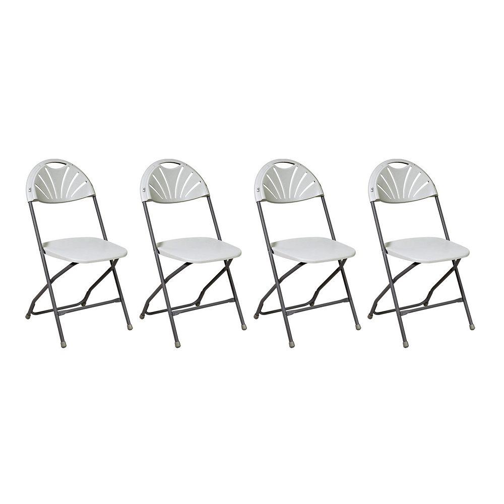 Work Smart Armless Chair 4-piece Set