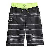 Boys 8-20 ZeroXposur Galactic Stripe Swim Trunks