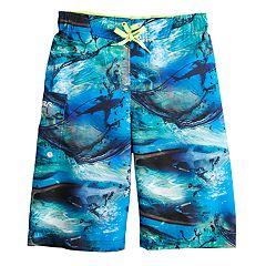 Boys 8-20 ZeroXposur Shark Adventure Swim Trunks