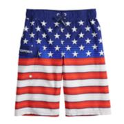 Boys 8-20 ZeroXposur Stars & Stripes Swim Trunks