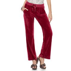 Women's Juicy Couture Supersoft Velour Midrise Bootcut pants