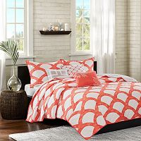 Madison Park Montego Coral 6-piece Quilted Coverlet Set
