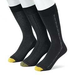 Men's GOLDTOE 3 pkTextured Dress Socks