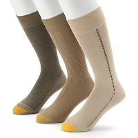Men's GOLDTOE 3 pkTextured Dress Socks