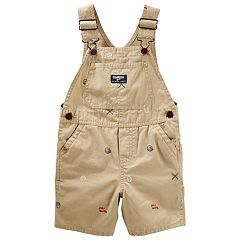 Toddler Boy OshKosh B'gosh® Embroidered Baseball Themed Shortalls