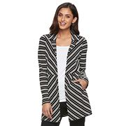 Women's Dana Buchman Striped Open-Front Jacket