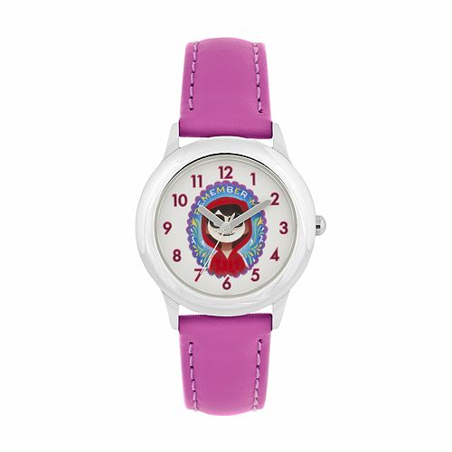 "Disney•Pixar Coco Kids' ""Remember Me"" Miguel Leather Watch"