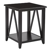 OSP Designs Santa Cruz Black End Table