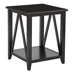 OSP Designs Santa Cruz Black End Table
