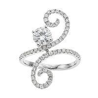 Forever Brilliant 14k White Gold 1 1/3 Carat T.W. Lab-Created Moissanite Ring