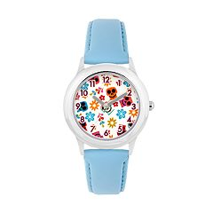Disney•Pixar Coco Kids' Flowers & Sugar Skulls Leather Watch
