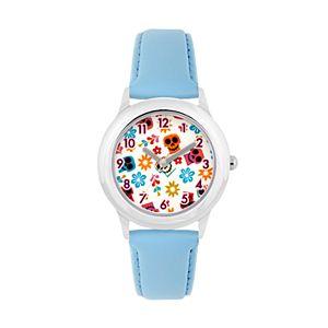 Disney?Pixar Coco Kids' Flowers & Sugar Skulls Leather Watch
