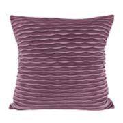 Colordrift Wavy Velvet Throw Pillow