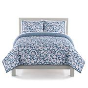The Big One® Faux Denim Floral Quilt Set