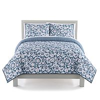 The Big One® Navy Floral Quilt Set