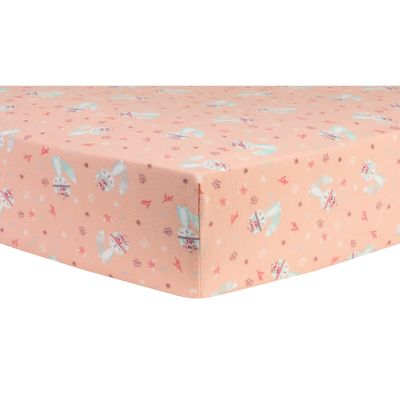 Trend Lab Fox & Flowers Deluxe Flannel Fitted Crib Sheet