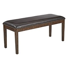 OSP Designs Langston Faux-Leather Bench