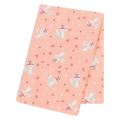 Trend Lab Fox & Flowers Jumbo Deluxe Flannel Swaddle Blanket
