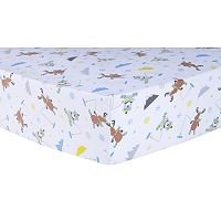 Trend Lab Gone Ice Fishing Deluxe Flannel Fitted Crib Sheet