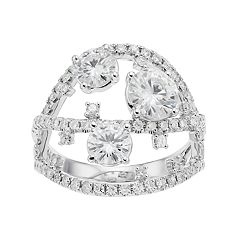 Forever Brilliant 14k White Gold 2 1/2 Carat T.W. Lab-Created Moissanite Ring