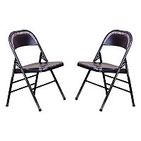 OSP Designs Bristow Metal Folding Chair 2-piece Set