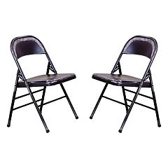 OSP Designs Bristow Metal Folding Chair 2 pc Set