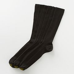 Men's GOLDTOE 3 pkFine-Ribbed Metropolitan Crew Socks