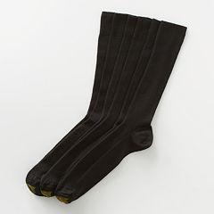 Men's GOLDTOE 3-pk. Fine-Ribbed Metropolitan Crew Socks