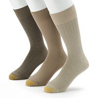 Men's GOLDTOE 3 pkDress Socks