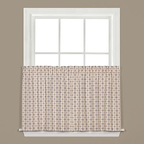 Saturday Knight, Ltd. Crosswalk Tier Kitchen Window Curtain Set
