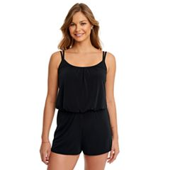 Women's Great Lengths D-Cup Blouson Swim Romper