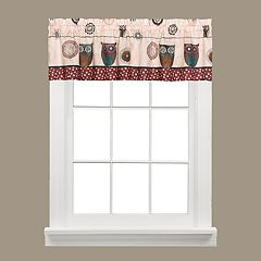 Saturday Knight, Ltd. Spice Owl Window Valance