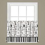 Saturday Knight, Ltd. Le Paris Tier Kitchen Window Curtain Set