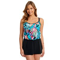 Women's Great Lengths Tummy Slimmer Blouson Swimdress