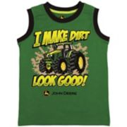 "Boys 4-7 John Deere ""I Make Dirt Look Good"" Muscle Tank Top"
