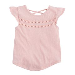 Toddler Girl Jumping Beans® Pom Trimmed Tee