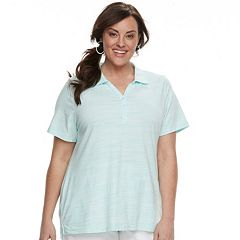 Plus Size Croft & Barrow® Space-Dye Polo
