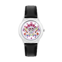 Disney•Pixar Coco Kids' Sugar Skull & Guitars Leather Watch