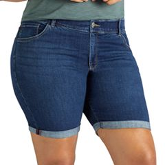 Plus Size Lee Total Freedom Denim Bermuda Shorts