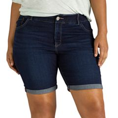 Plus Size Lee Total Freedom Denim Bermuda Shorts