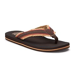 Men's United Supply Co. Frayed Flip-Flops