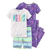 Girls 4-12 Carter's Tops, Shorts & Bottoms Pajama Set