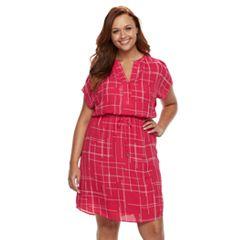 Plus Size Apt. 9® Chiffon Short-Sleeved Dress