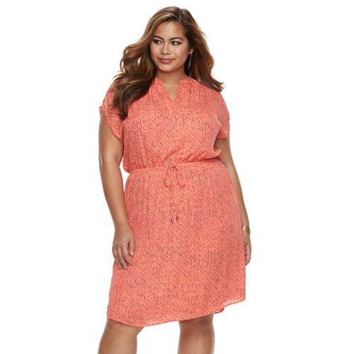 Plus Size Apt 9 Chiffon Short Sleeved Dress