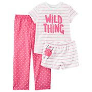 Girls 4-14 Carter's Tee, Bottoms & Shorts Pajama Set