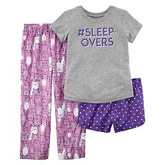 Girls 4-14 Carter's Tee, Bottoms & Shorts Pajama Set
